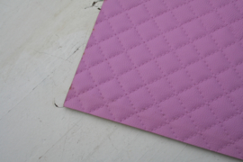 Leer doorstik motief roze