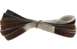 Vacht  leer 12mm wit-naturel-zwart-bruin-grijs