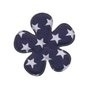 Bloem donkerblauw met witte sterren 3,5 cm