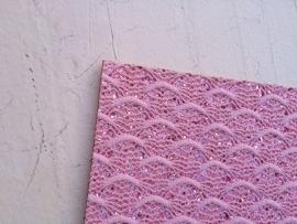 Leer kant roze 20x22 cm