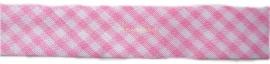 Biasband baby roze ruitje 1,8cm
