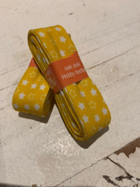 Biasband geel met witte sterren (8006)
