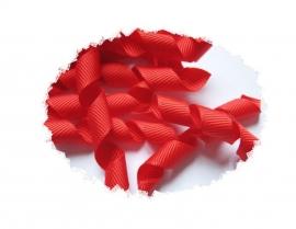 Krullen lint rood 7cm pst