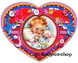 vintage baby full color