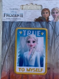 Frozen opstrijk applicatie ELSA true to myself