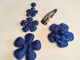 DIY Haarknipje royal blue/cobalt blauw