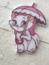 Flatback poes Marie met paraplu