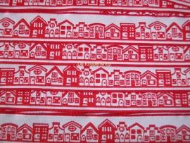 Huisjes band rood