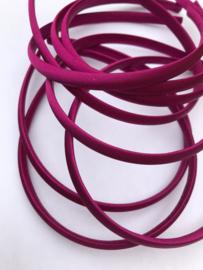 Diadeem satijn fuchsia/paars 1cm