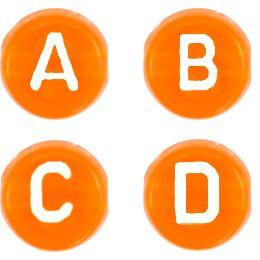 Letterkralen oranje transparant