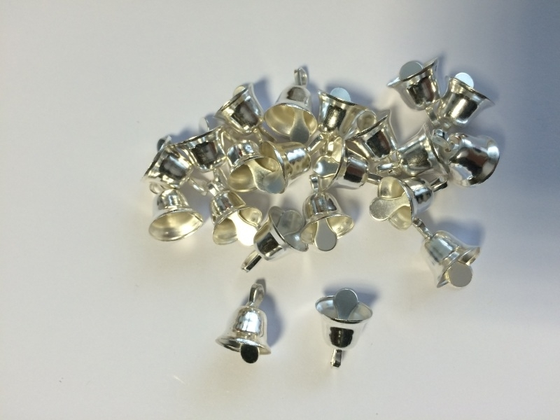 Zilveren klokjes &klepel 1cm