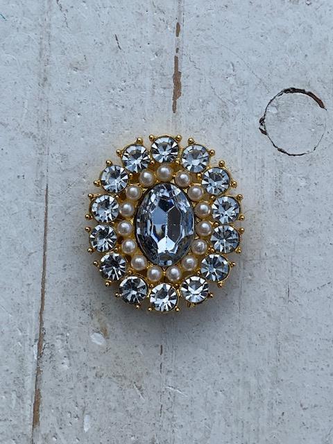 Luxe rhinestone diamant helder parels gold