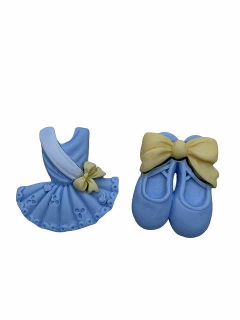 Balletpakje lichtblauw flatback