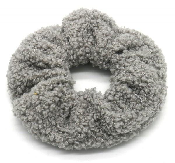 Scrunchie Haarwokkel teddy grijs
