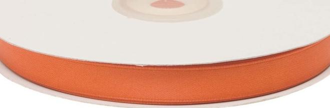 Oranje satijnband 10 mm