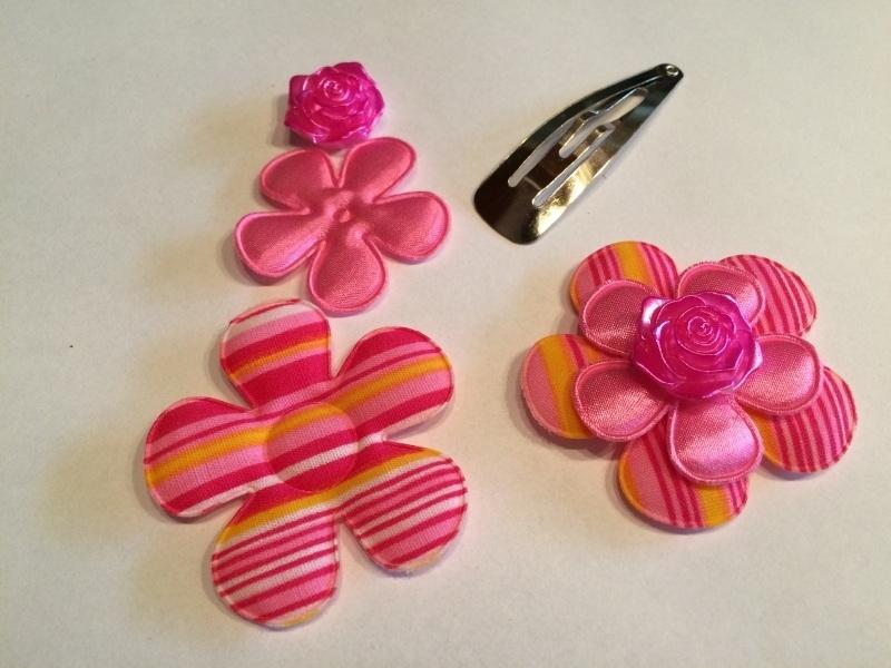 DIY Haarknipje neon pink streep