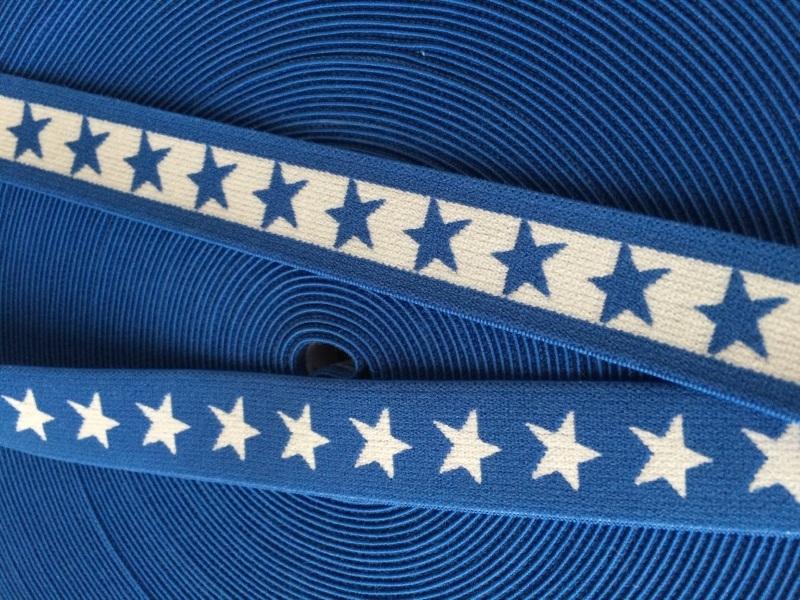 elastisch sterrenband royal blue