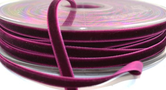 Velvet/fluweel band Bordeaux 6 mm