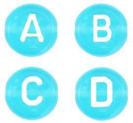 Letterkralen pool blue transparant