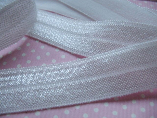 Elastisch biasband  wit (haarband) 1,5cm