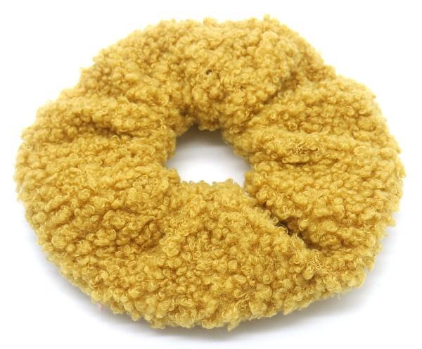 Scrunchie Haarwokkel teddy oker geel