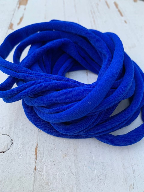 Haarbandje nylon royal blue