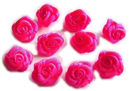 R015 Roosjes fel roze 1cm ( 10 )