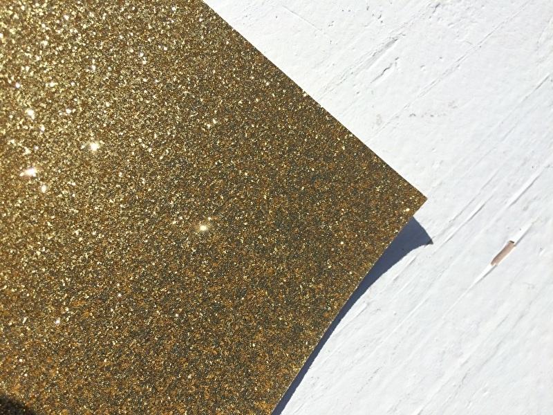 Glitter Leer Goud 20x30 cm