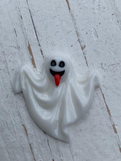 Flatback spook wit halloween