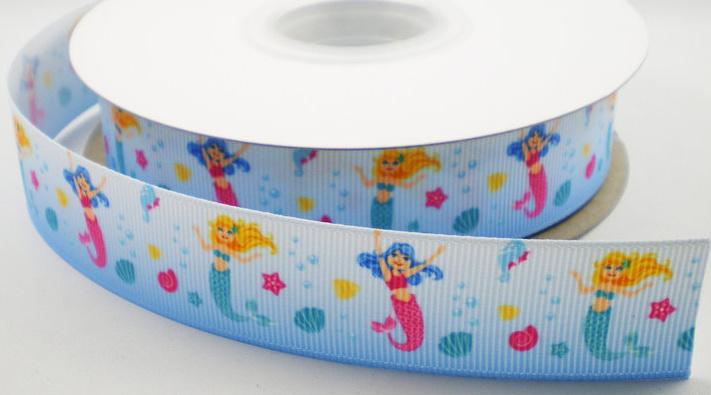 Kinderband zeemeermin blauw
