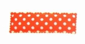 Kniphoesje rechthoekig stip oranje
