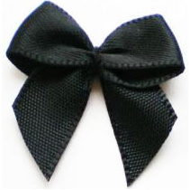 Zelfklevende (plak) strikje zwart