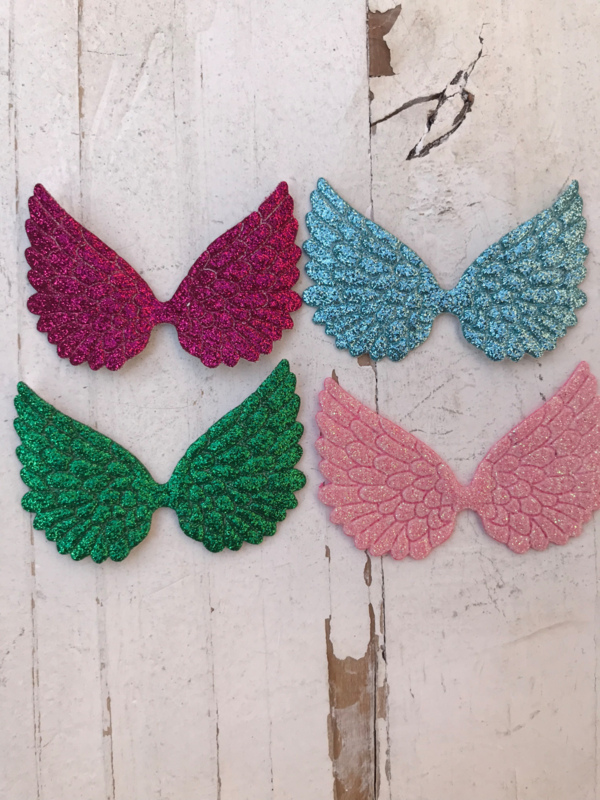 Vleugels glitter 6cm kies jou kleur (2)