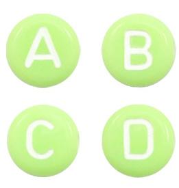 Letterkralen Lime transparant