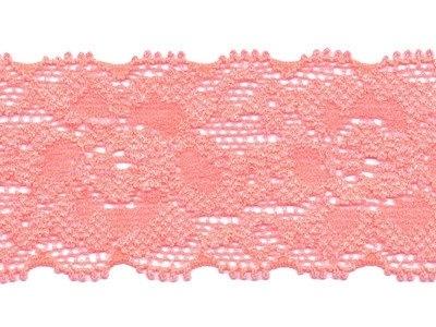 Elastisch kant zalm roze 35 mm