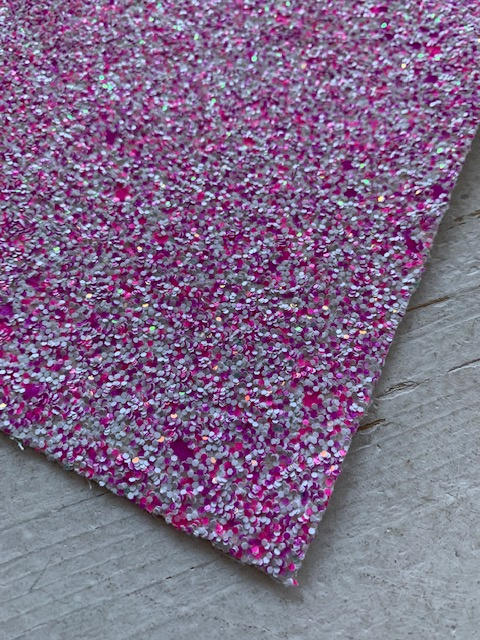 Glitter leer pink/hot pink confetti mix 20x32 cm