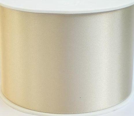 Satijnlint ivoor 7 cm