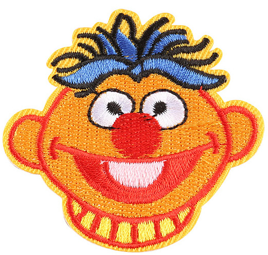 Sesamstraat Ernie strijkapplicatie