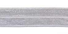 Elastisch biasband zilver grijs 2cm