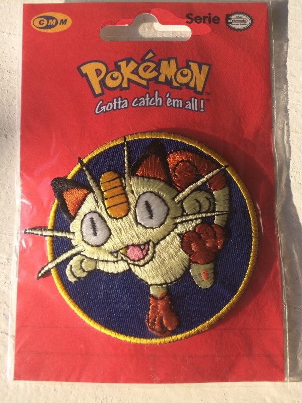 Meowth Pokemon strijkapplicatie