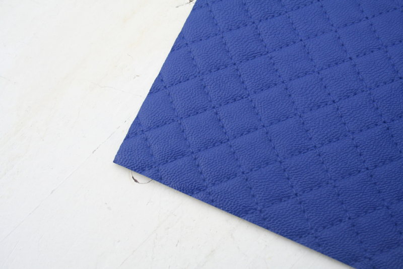 Leer doorstik motief royal blue