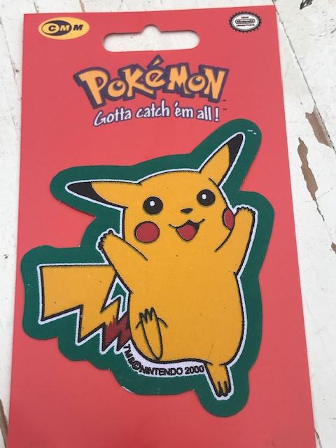 Pikachu Pokemon vrolijk strijkapplicatie