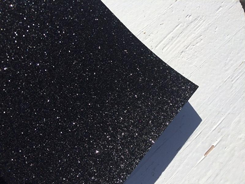 Glitter Leer Zwart 20x30 cm