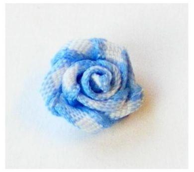 Roosje ruit blauw 1 cm
