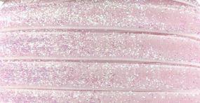 Elastisch wit/roze glitter haarband 1cm