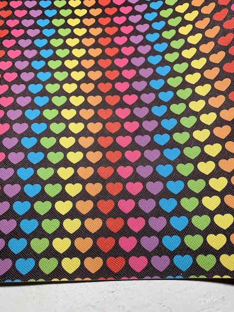 Leer regenboog hartje zwart
