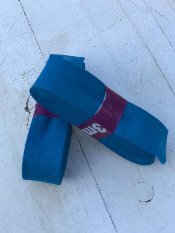 Biasband blauw katoen 3 meter