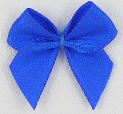 Strikje kobalt/royal blue satijn