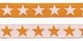 Oranje sierband met witte sterren 2-zijdig 12 mm