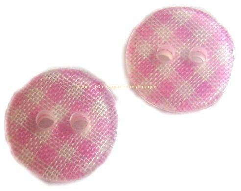 KN107a Ruitje roze 1cm